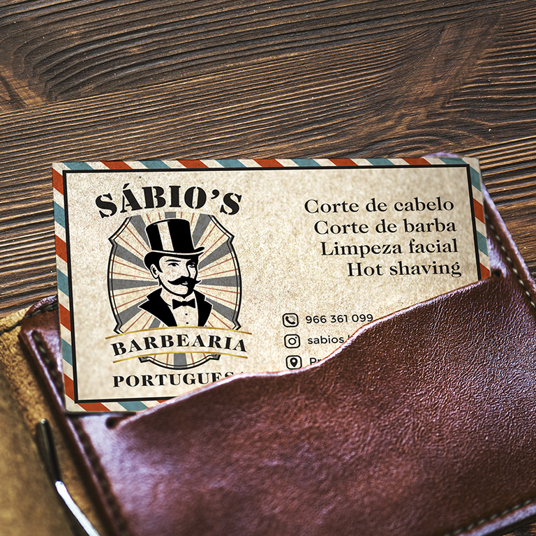 Calling card mockup in a wallet