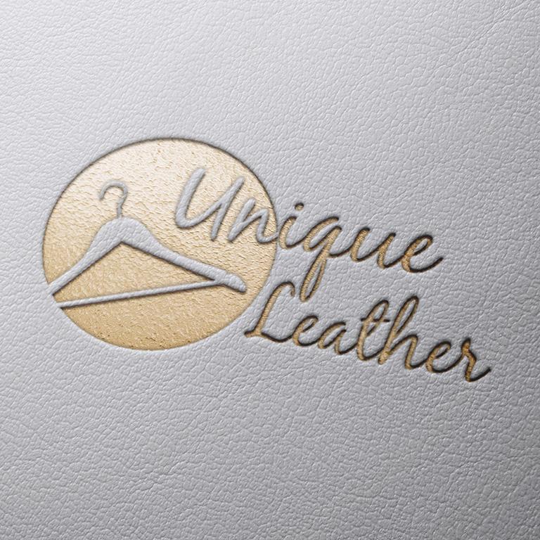 Logo Mockup Leather 3